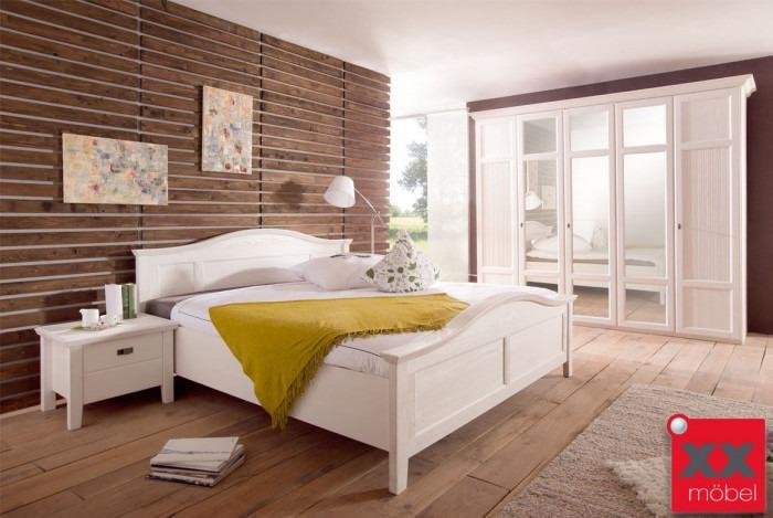 Charmant Schlafzimmer Landhausstil | 4 Tlg. | Cinderella | Kiefer Massivholz Weiss