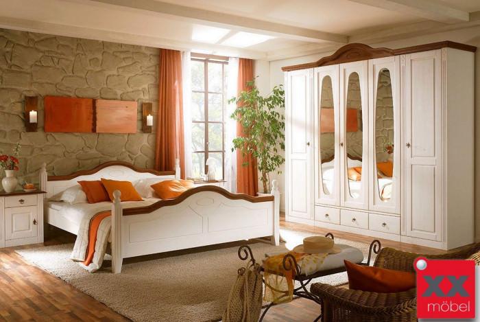 schlafzimmer landhausstil komplett wales kiefer teilmassiv t25. Black Bedroom Furniture Sets. Home Design Ideas