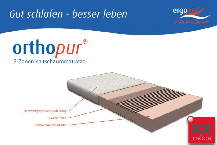 Matratze | Orthopur | 7-Zonen-Kern | T90