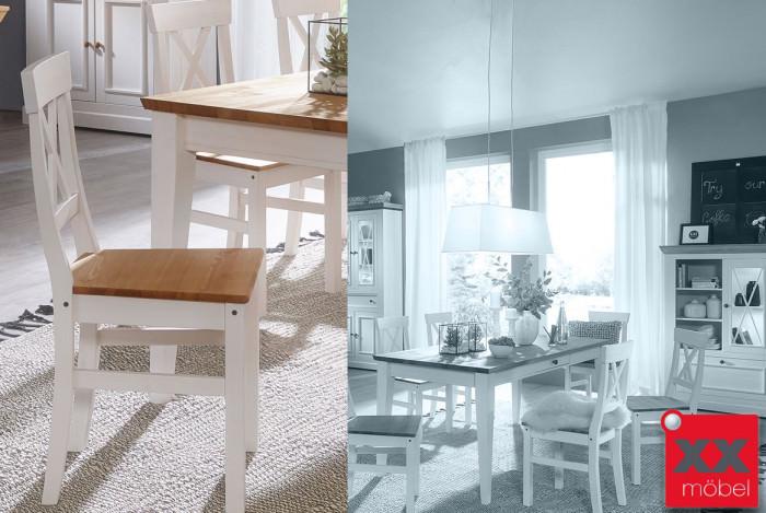 Stuhl Set | Windsor | Kiefer Massivholz | T61