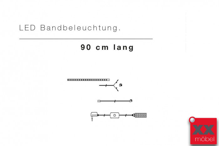 LED Bandbeleuchtung ca. 90 cm lang 06086ZB
