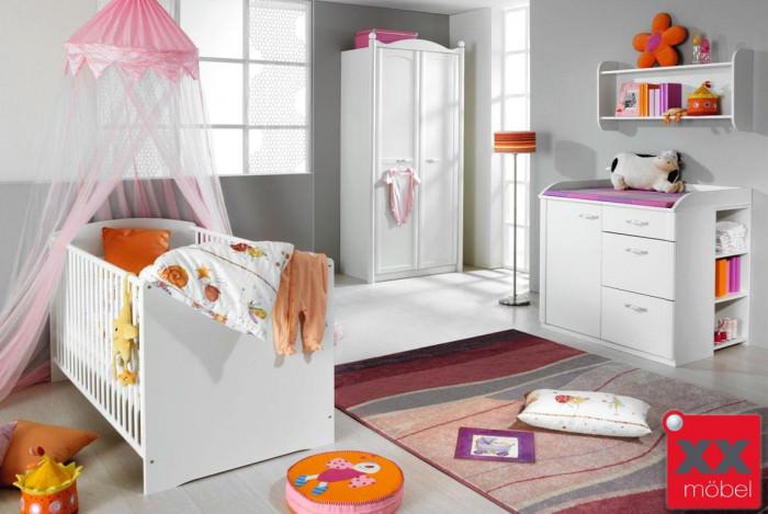 Babyzimmer   5-tlg.   Lilly   Schrank 2-trg weiss   W25