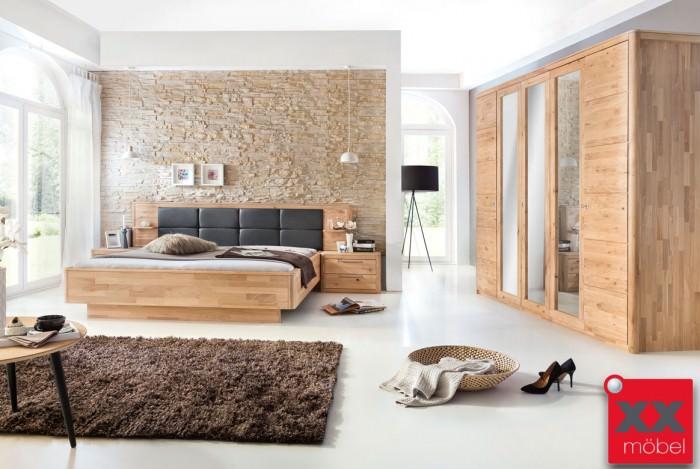 Schlafzimmer | Micaja | Eiche Bianco massiv | S01