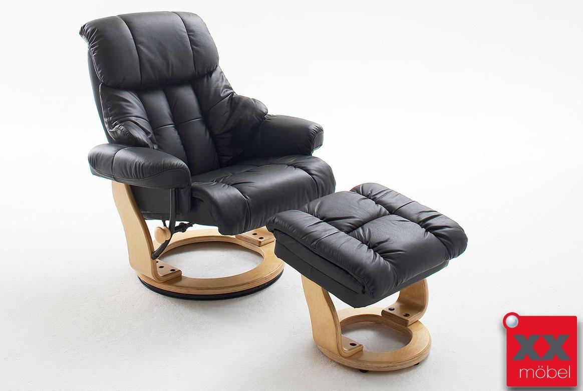 relaxsessel g nstig leder schwarz mca relaxsessel kaufen. Black Bedroom Furniture Sets. Home Design Ideas