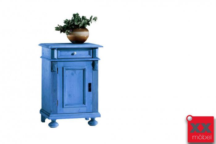 Kommode Landhausstil Blau Alina Fichte Massivholz T58 4g