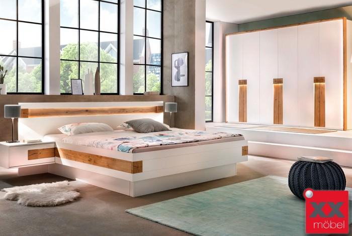 Schlafzimmer weiß | Eos | Hirnholz Applikation massiv | S01