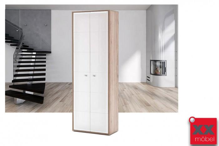 Garderobenschrank | Comino | weiß Hochglanz | T85