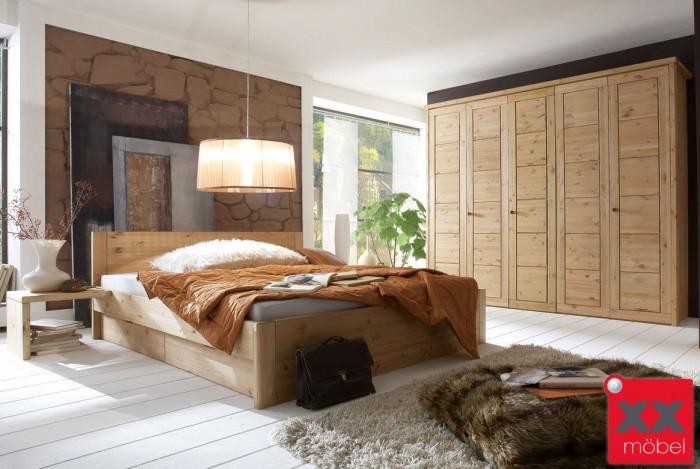 massivholz schlafzimmer rauna echtholz kiefer massiv sk307. Black Bedroom Furniture Sets. Home Design Ideas