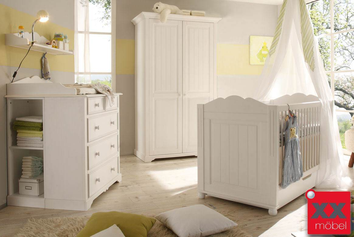 babyzimmer landhausstil weiss cinderella kiefer teilmassiv b01. Black Bedroom Furniture Sets. Home Design Ideas