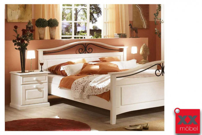 bettgestell doppelbett landhausstil san diego kiefer. Black Bedroom Furniture Sets. Home Design Ideas