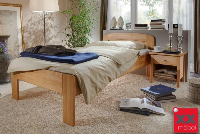 Bettgestell | Comfort V | Seniorenbett Buche - Wildeiche | CS4