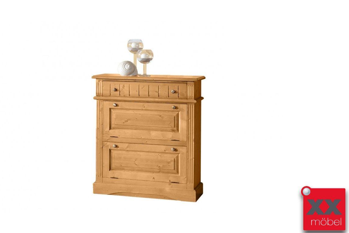 schuhschrank landhausstil lara fichte massivholz t83. Black Bedroom Furniture Sets. Home Design Ideas