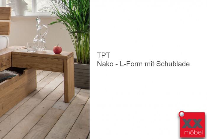 Nachtkonsole L-Form | TPT I | Wildeiche geölt | N40