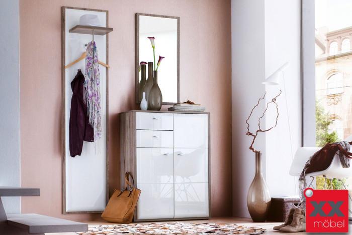 Garderoben Set | Comino | weiß Hochglanz | K03