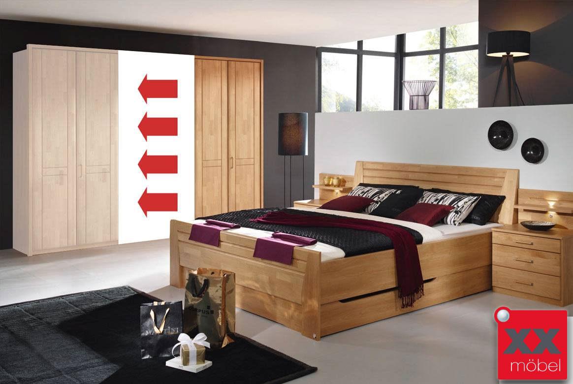 schlafzimmer massivholz sitara schrank konfigurator k01