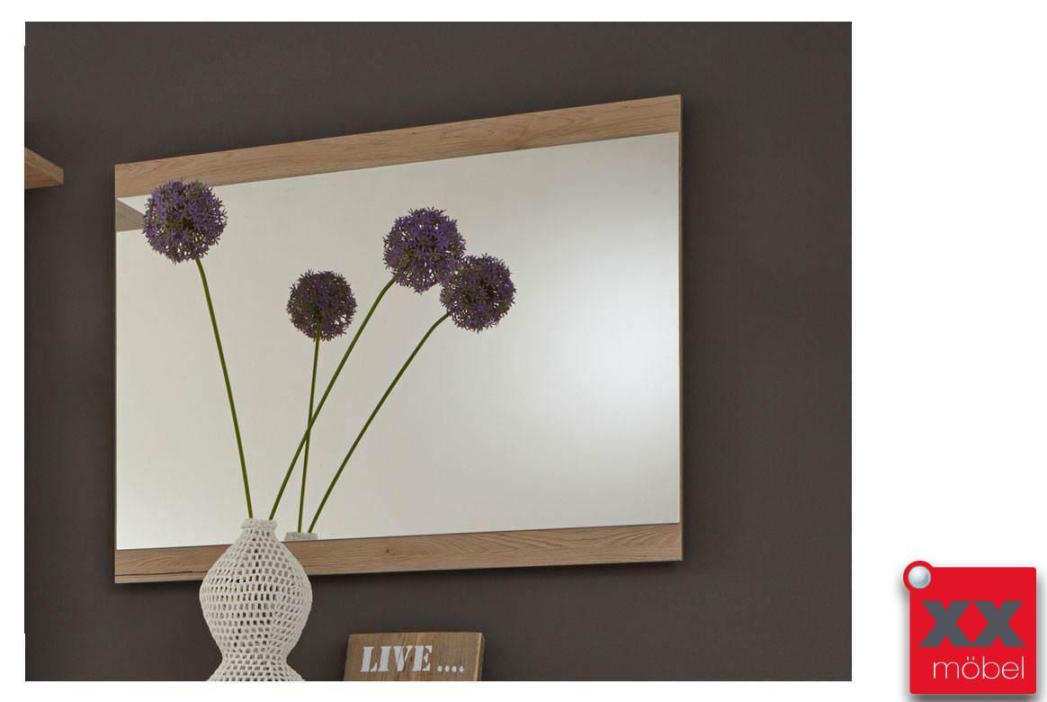 wandspiegel modern capri rahmen sanremo eiche t93. Black Bedroom Furniture Sets. Home Design Ideas