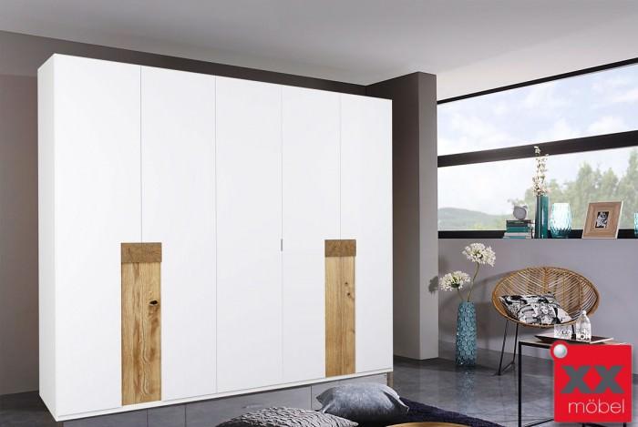 Kleiderschrank 5 trg | Eos | Hirnholz Applikation massiv | T05