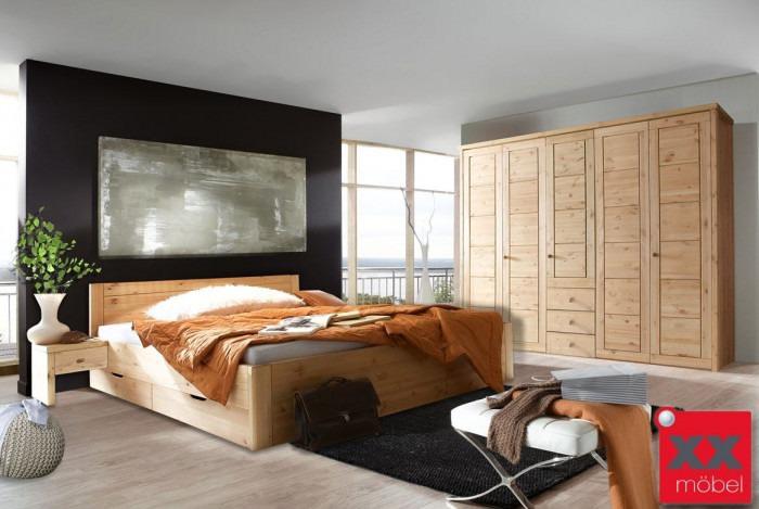 Massivholz Schlafzimmer | Rauna - Vita | Echtholz Landhaustil | SK291S