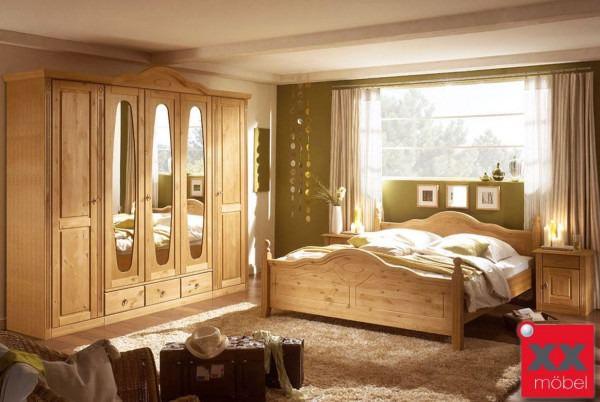 schlafzimmer landhausstil   wales   teilmassiv kiefer   t25, Schlafzimmer ideen