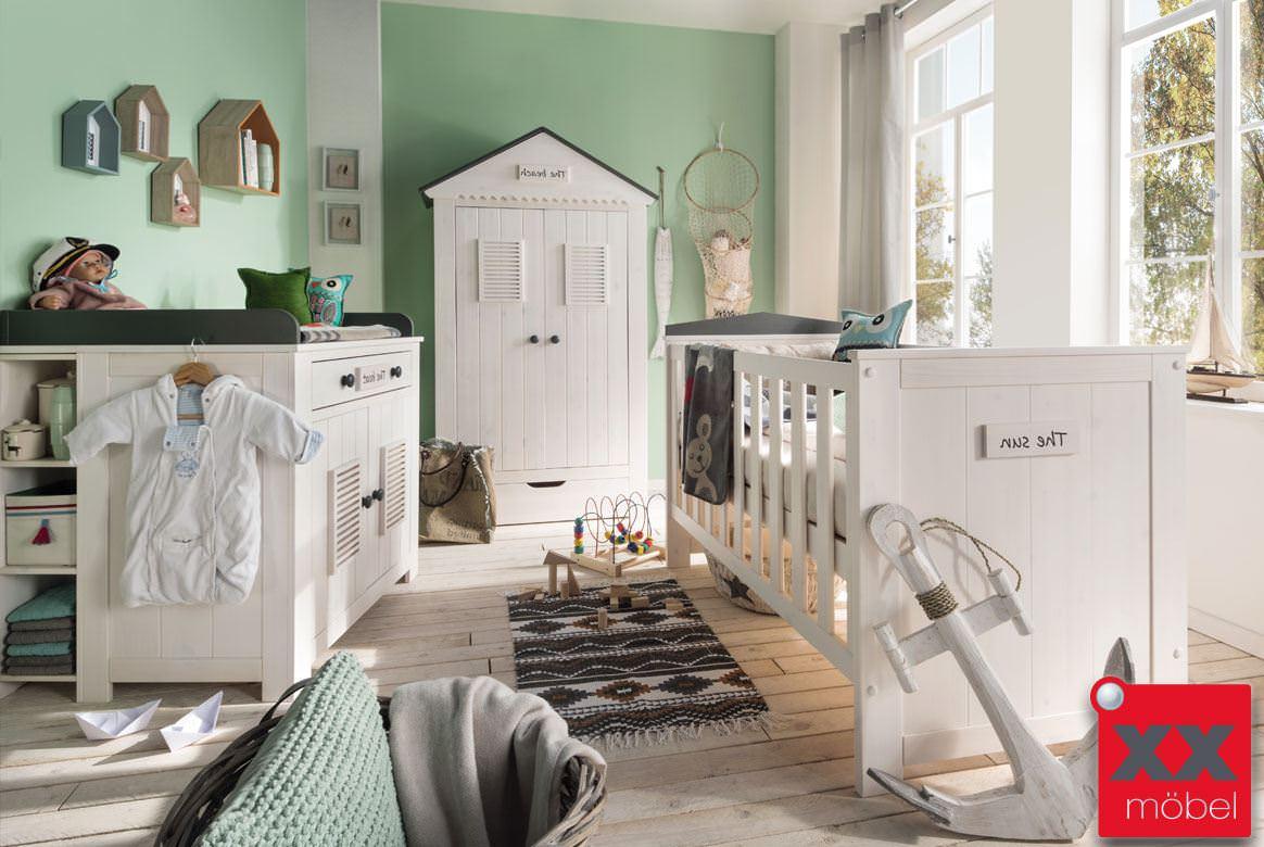 babyzimmer massivholz lucky kiefer massiv weiss grau s01. Black Bedroom Furniture Sets. Home Design Ideas