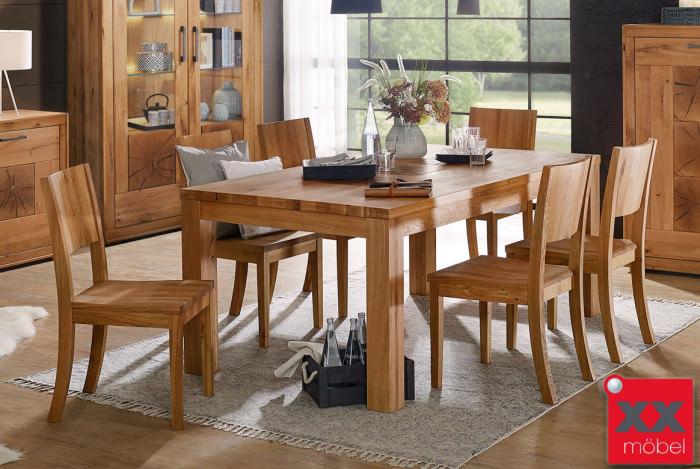 Tischgruppe | Jale | Wildeiche massiv | G01