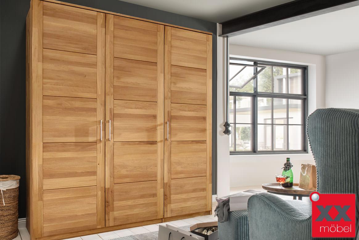 m h kleiderschrank massivholz quattra buche eiche massiv f 7. Black Bedroom Furniture Sets. Home Design Ideas