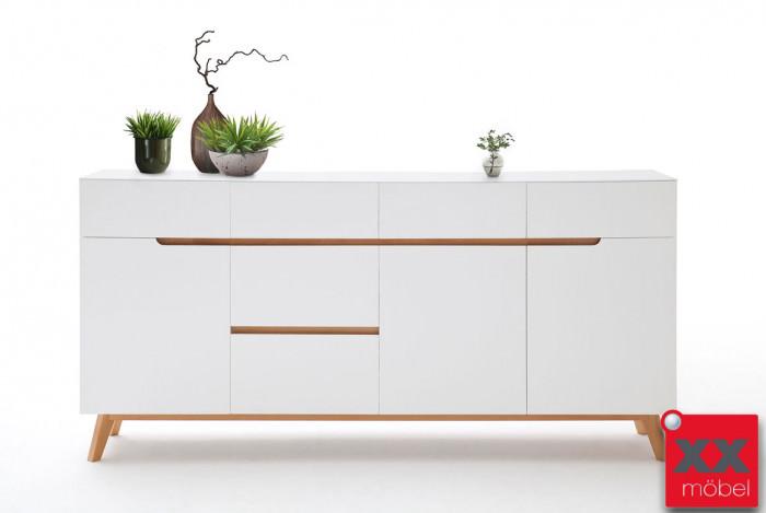 Sideboard | Cervo | weiß - Asteiche | T04
