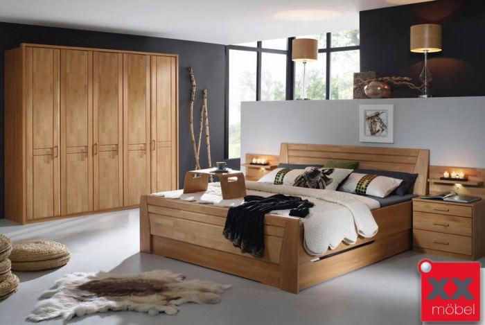 Schlafzimmer komplett Rauch | Sitara | Erle teilmassiv | S43