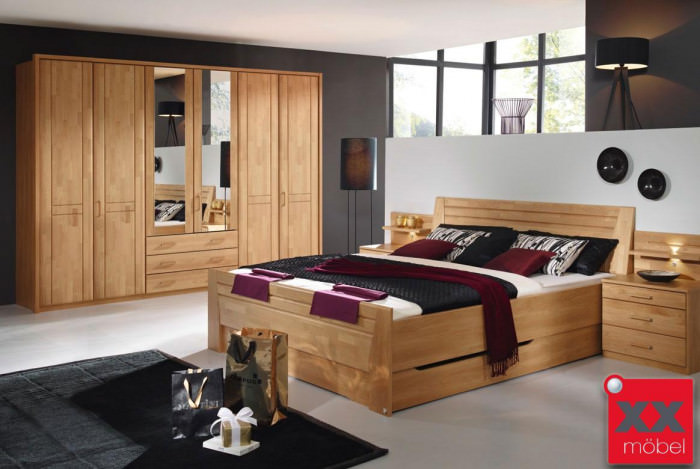 schlafzimmer komplett rauch sitara erle wildeiche s83. Black Bedroom Furniture Sets. Home Design Ideas