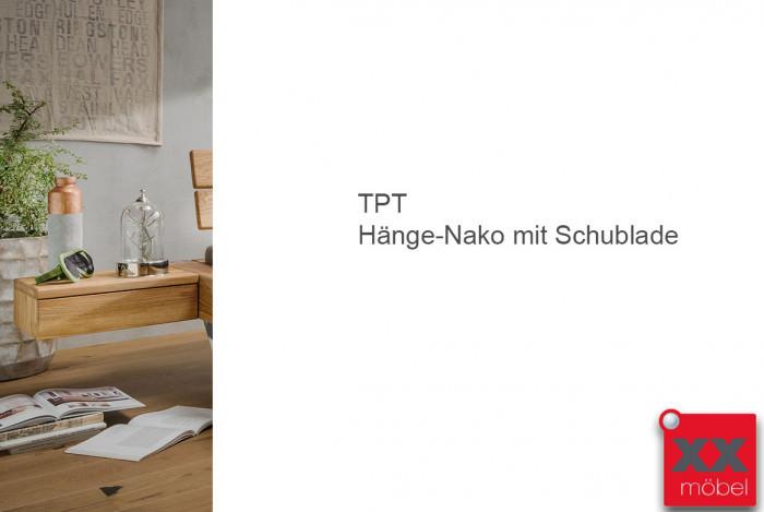 Nachtkonsole für Balkenbett | TPT I | Wildeiche geölt | N50