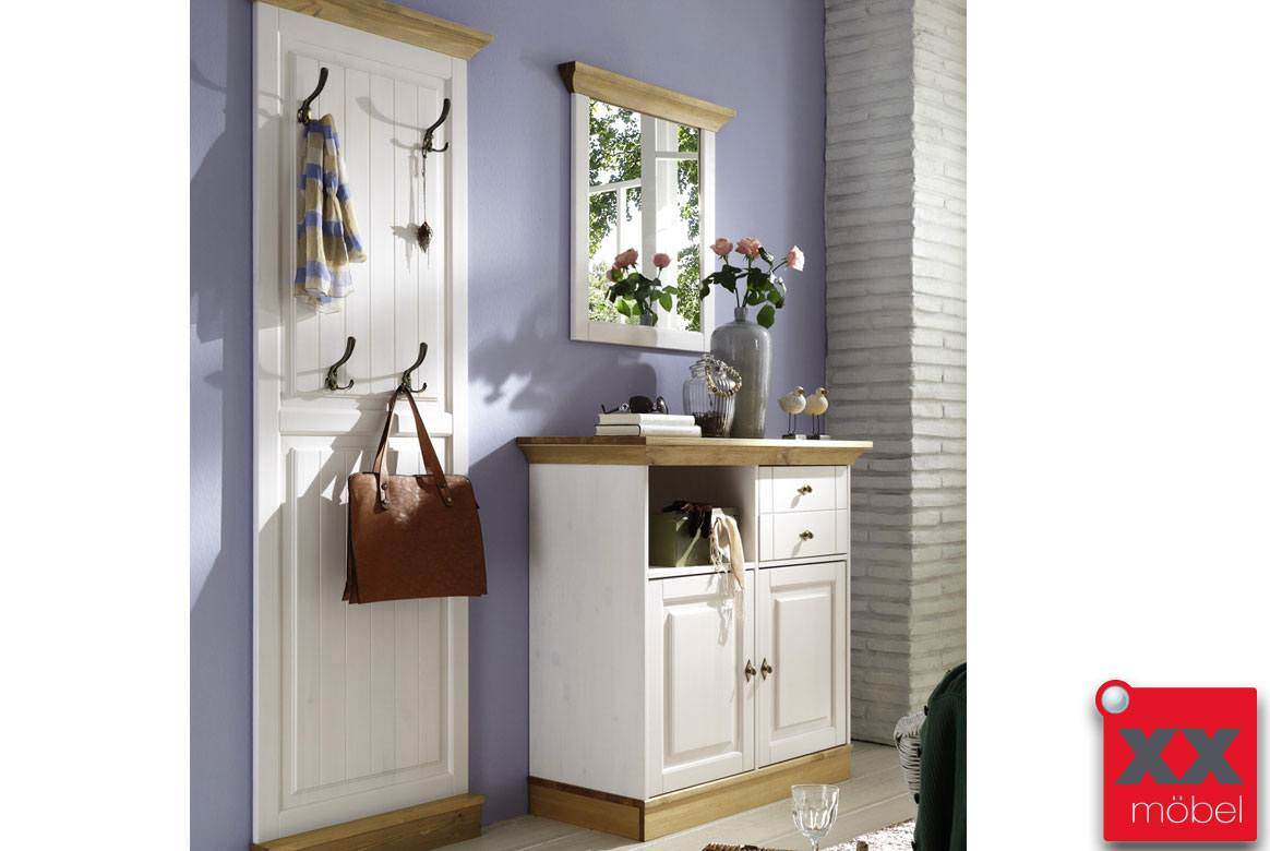 Garderoben Set | 3-tlg. | Linea | Kiefer Massivholz | K04