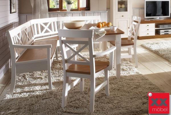 eckbank wei landhausstil. Black Bedroom Furniture Sets. Home Design Ideas