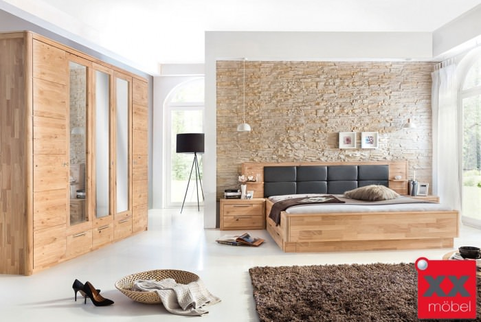 Schlafzimmer | Micaja | Eiche Bianco massiv | S5