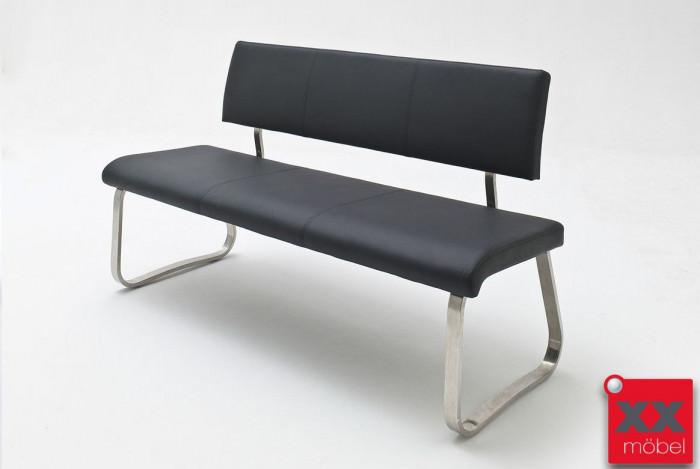 Sitzbank | Arco | Echtleder schwarz | AB1