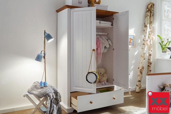 Kleiderschrank | Julia | Kiefer Massivholz | T01